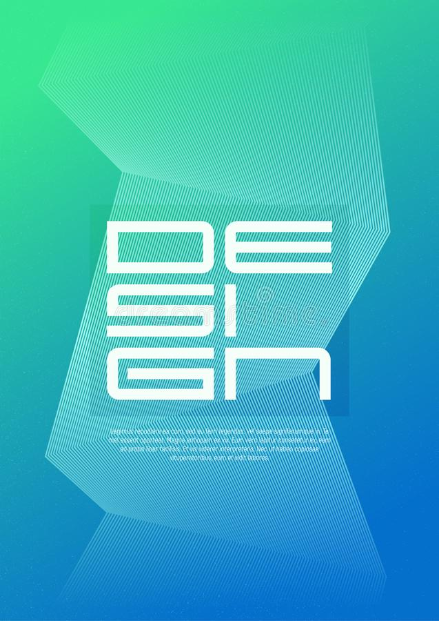 Abdeckungsdesign der Zusammenfassung der Größe A4 geometrisches unbedeutendes mit dem Korn E-F vektor abbildung