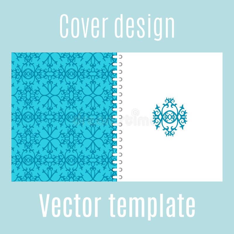 Abdeckungsdesign mit traditionellem arabischem Muster stock abbildung