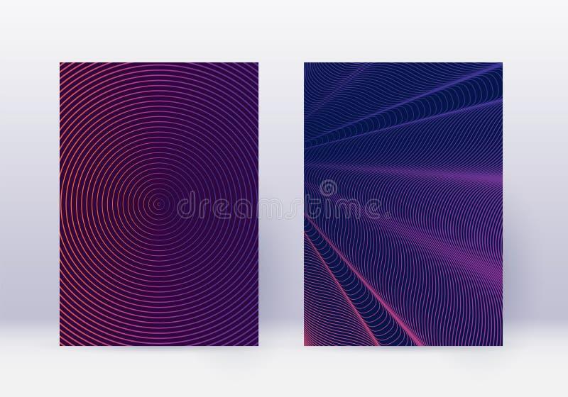 Abdeckungsdesign-Schablonensatz Zusammenfassungslinien modernes b vektor abbildung