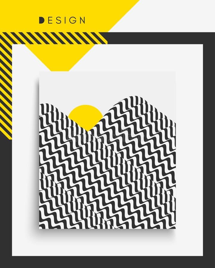 Abdeckungsdesignschablone Auch im corel abgehobenen Betrag Muster kann als Schablone für Broschüre benutzt werden stock abbildung