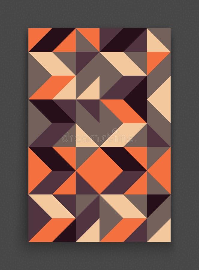 Abdeckungsdesignschablone für die Werbung Abstraktes buntes geometrisches Design Muster kann als Schablone für Broschüre benutzt  lizenzfreie abbildung