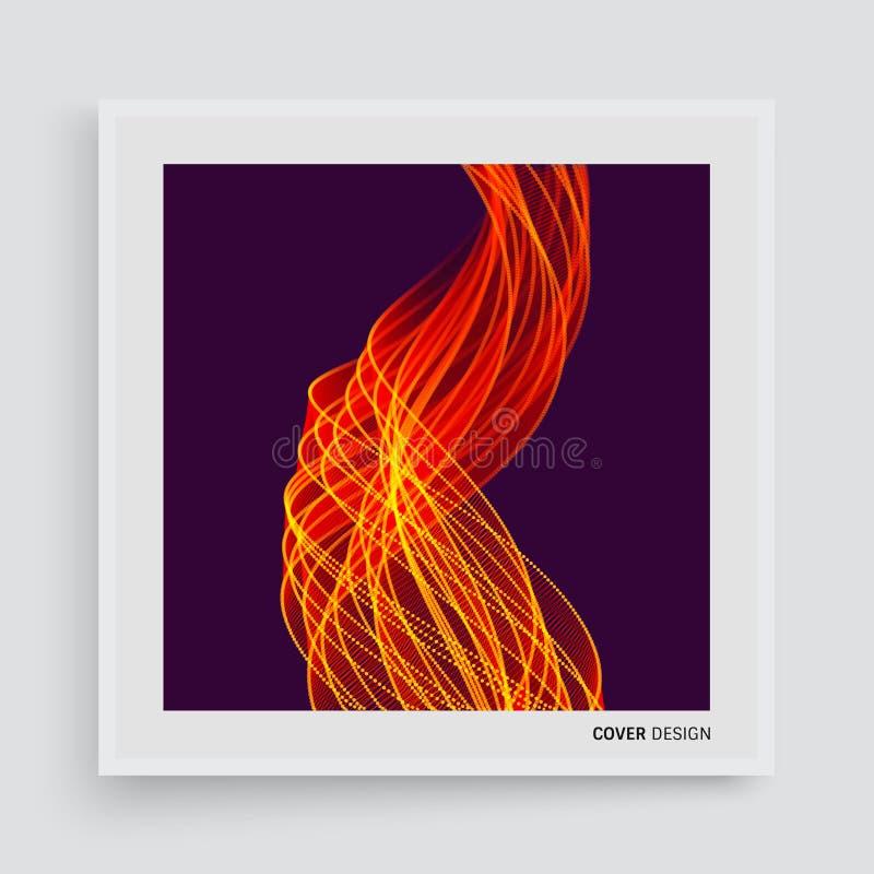 Abdeckungsdesignschablone Flammenfeuerhintergrund für Design und Darstellung Auch im corel abgehobenen Betrag vektor abbildung