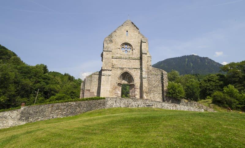 Abdij van Heilige Jean d'Aulps, Frankrijk royalty-vrije stock afbeeldingen