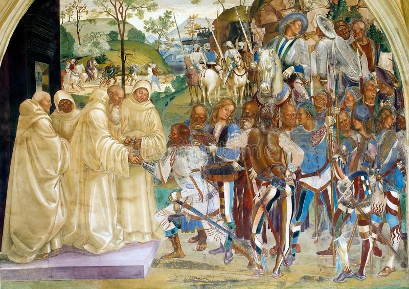 Abdij van Monte Oliveto Maggiore royalty-vrije stock afbeelding