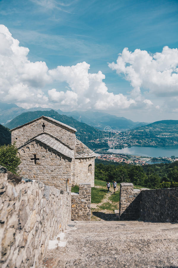 Abdij van San Pietro al Monte royalty-vrije stock afbeelding
