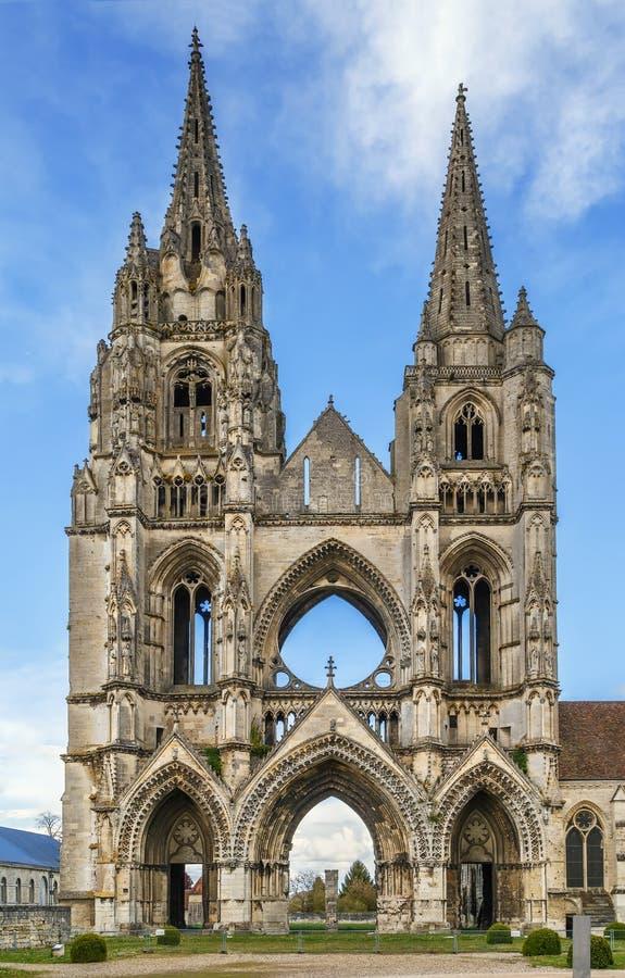 Abdij van St Jean des Vignes, Soissons, Frankrijk stock afbeelding