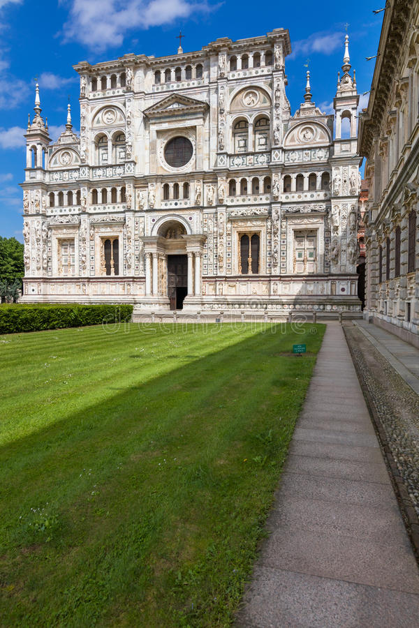 Abdijkerk, Certosa-het klooster van Di Pavia stock fotografie