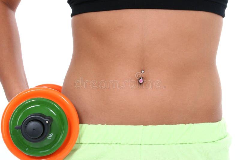 Abdomen of Woman In Workout Clothes stock photos