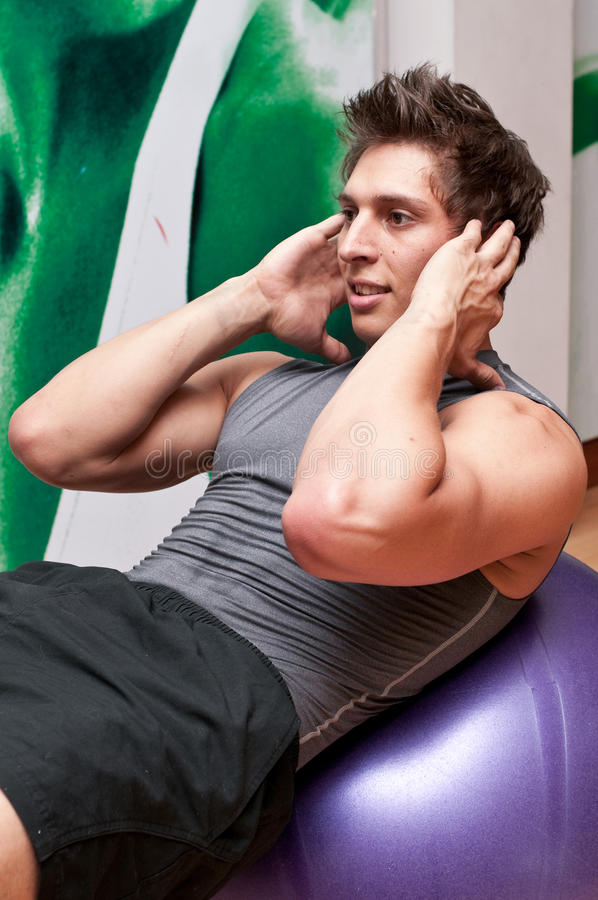 Download Abdominal crunch stock photo. Image of training, work - 9942708