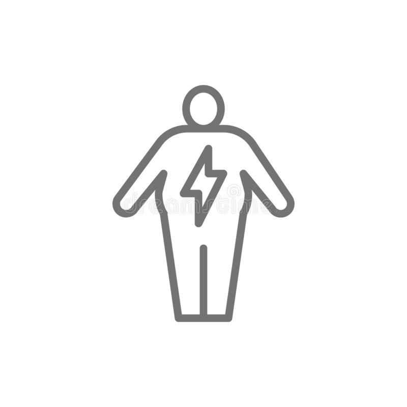 Abdominal distention, diseases of the digestive tract line icon. Vector abdominal distention, diseases of the digestive tract line icon. Symbol and sign vector illustration