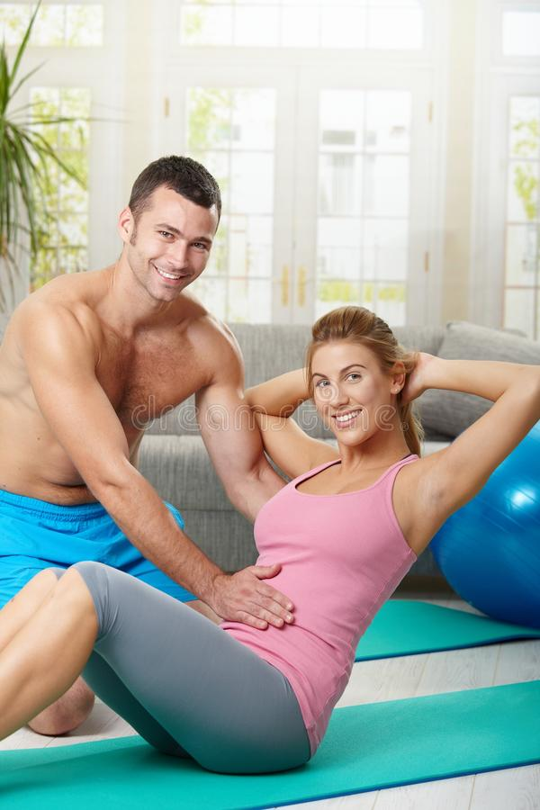 Abdominal exercise royalty free stock image
