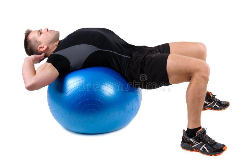 Abdominal- Fitball-Übungen lizenzfreie stockfotos