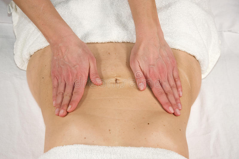 Abdominal- Massage stockfotografie