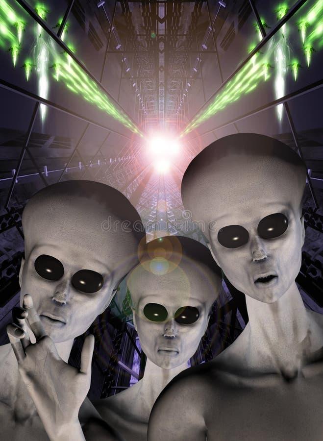 Abducção do estrangeiro do UFO ilustração stock