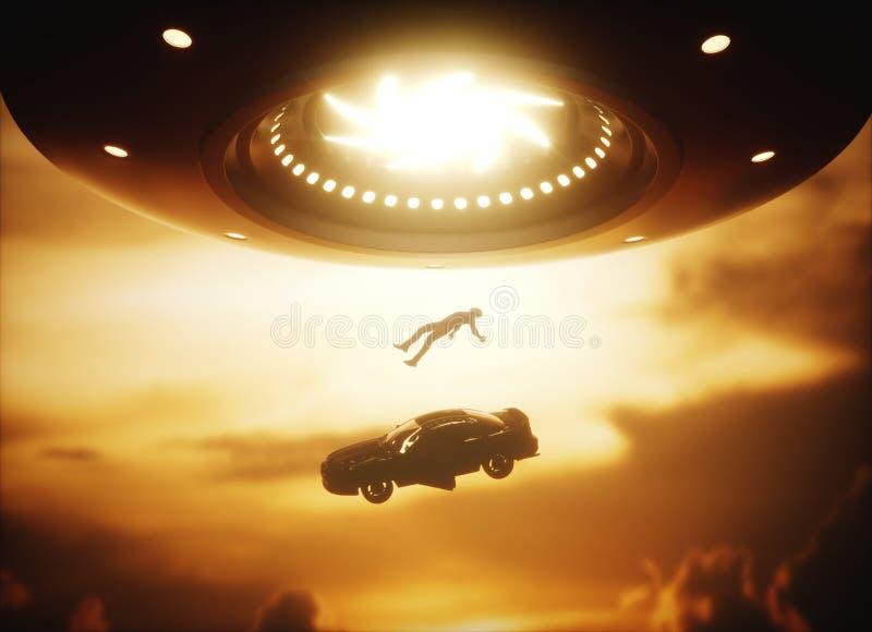 Abduction d'étranger d'UFO illustration libre de droits