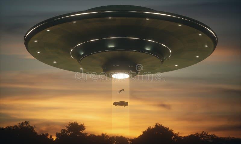 Abduction d'étranger d'UFO photographie stock