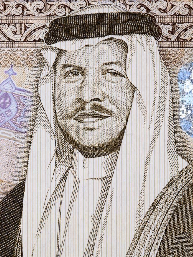 Abdullah II-bak al-Hussein een portret royalty-vrije stock foto's