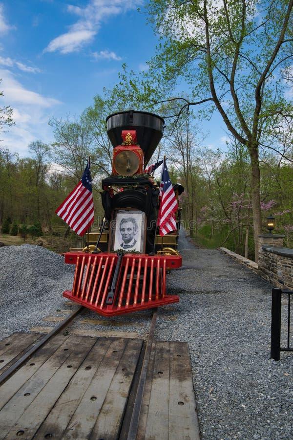 Abe Lincoln Funeral Train Re-Enactment fotos de archivo libres de regalías