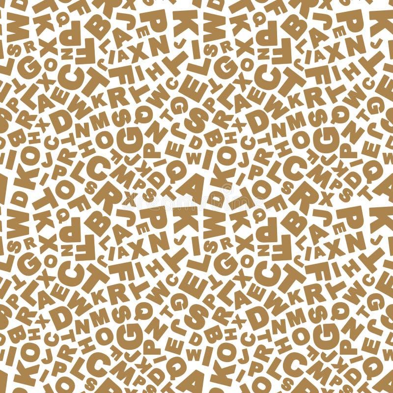 abecadła abstrakcjonistyczny tło Wektorowa ilustracja bezszwowy wzór z listami ilustracji