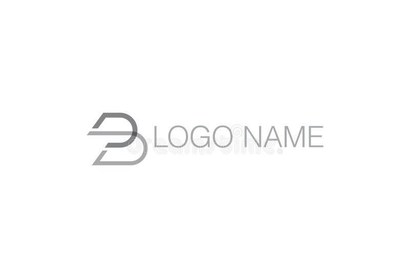 Abecadła b logo Listowy projekt ilustracja wektor