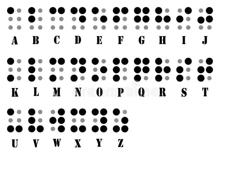 abecadła Braille system ilustracji