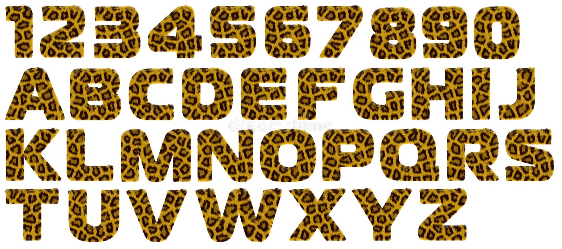 abecadła futerka listu stylu tygrys royalty ilustracja