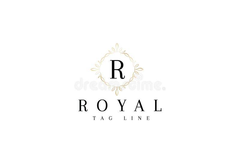 Abecadła R logo Listowy projekt ilustracji