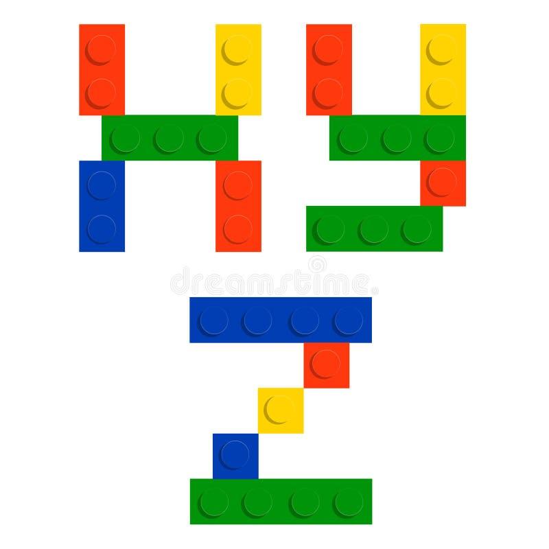 Abecadła set robić zabawkarscy budowy cegły bloki royalty ilustracja