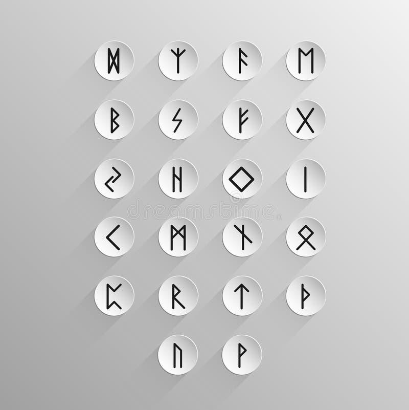 Abecadła Stary Nordycki rune ilustracji