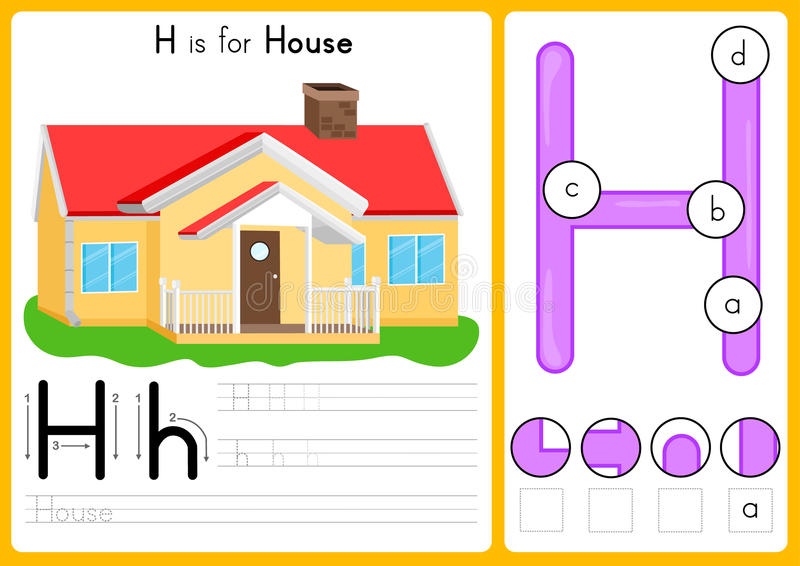 Abecadła A-Z kalkowanie, łamigłówki Worksheet, ćwiczenia dla dzieciaków i wektor, - ilustracja royalty ilustracja