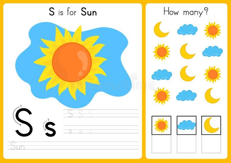 Abecadła A-Z kalkowanie, łamigłówki Worksheet, ćwiczenia dla dzieciaków i wektor, - ilustracja ilustracji