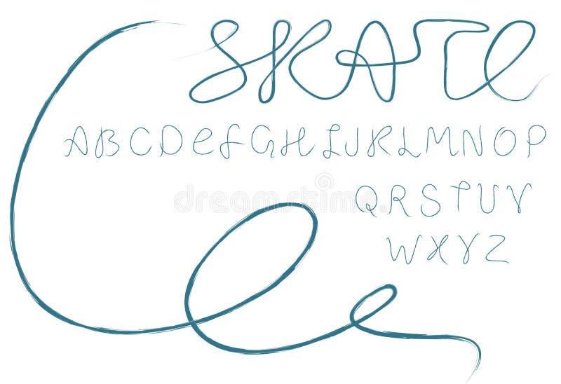 abecadło łyżwa ilustracja wektor