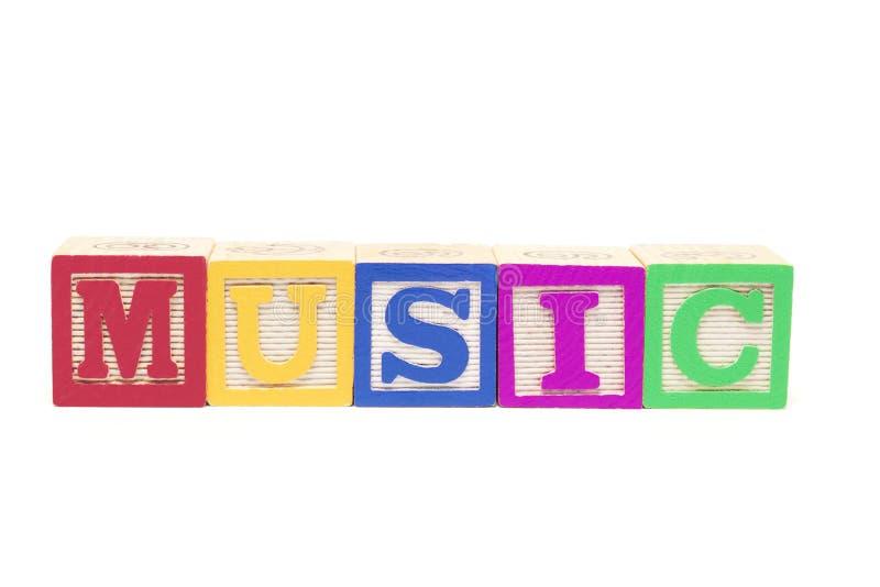 abecadło blokuje muzykę fotografia stock