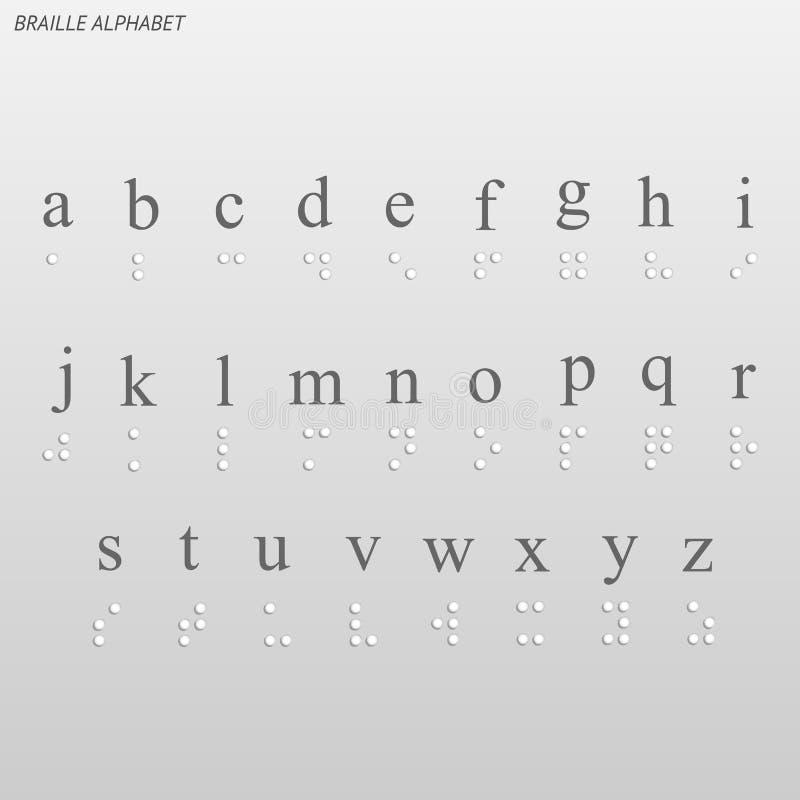 abecadło Braille ilustracja wektor