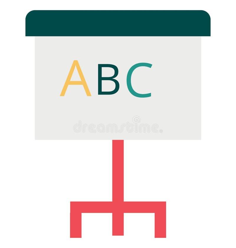 Abecadło koloru wektoru mapa Odizolowywająca ikona fotografia stock