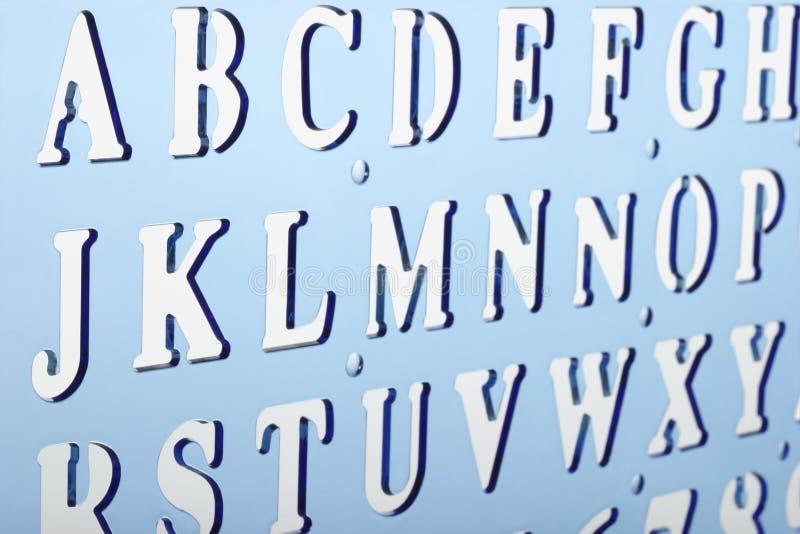 abecadło plastikowy stencil fotografia stock
