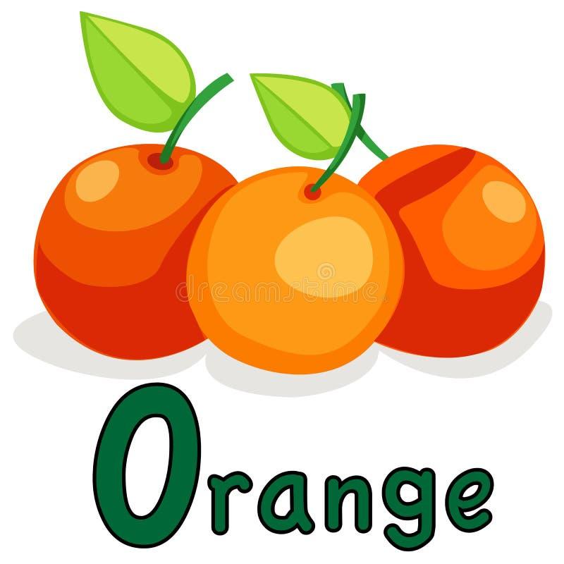 abecadło pomarańcze o ilustracja wektor
