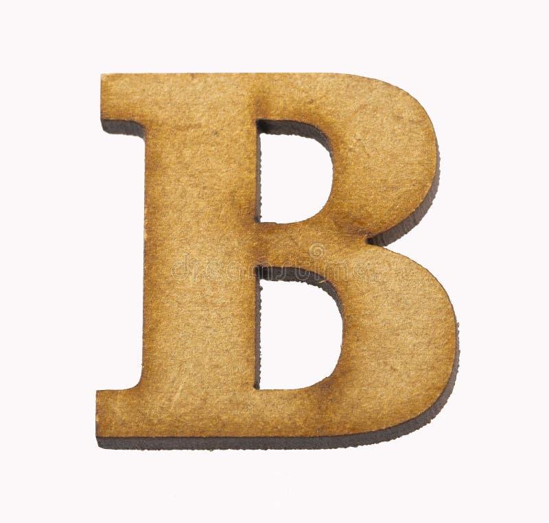 Abecadło w drewnie - Listowy b zdjęcia royalty free