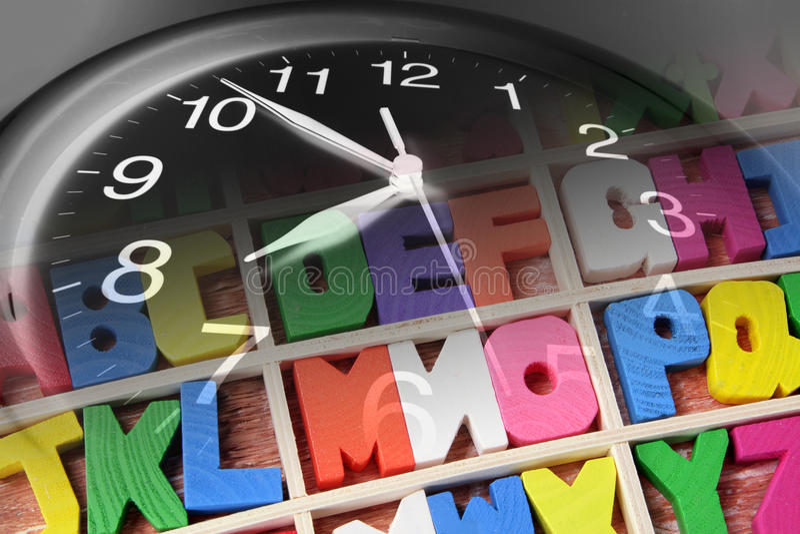 abecadło zegar zdjęcie royalty free