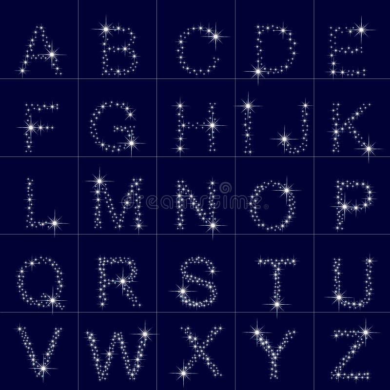 Download Abecadło gwiazdy, list ilustracja wektor. Ilustracja złożonej z fotografia - 28966120