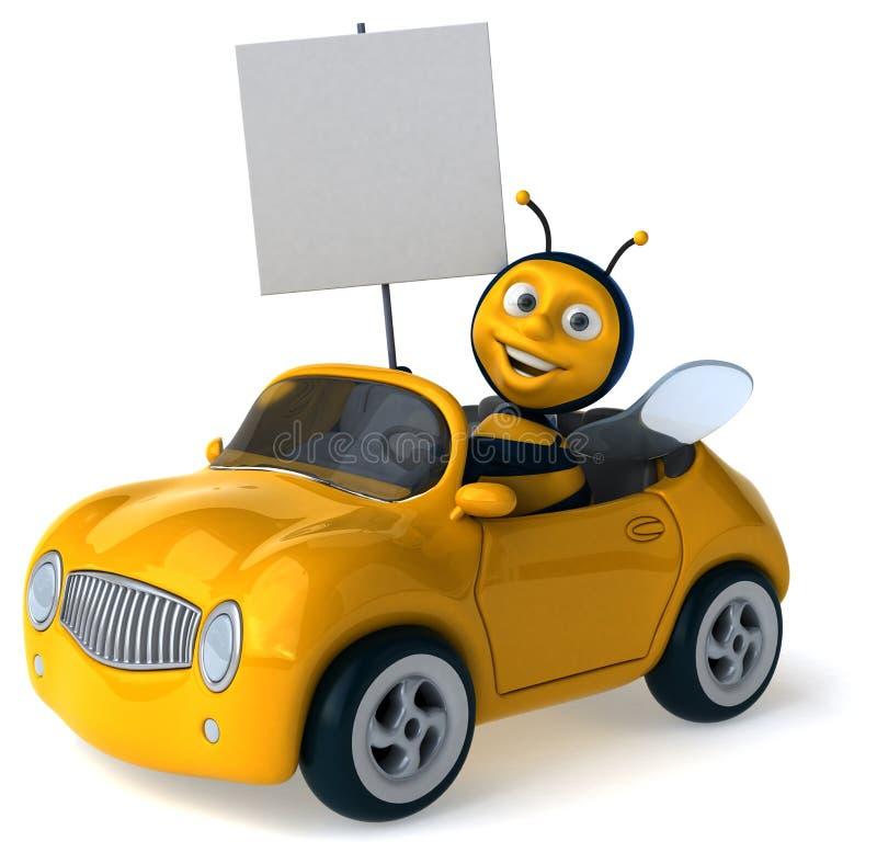 Download Abeille d'amusement illustration stock. Illustration du abeille - 56490986