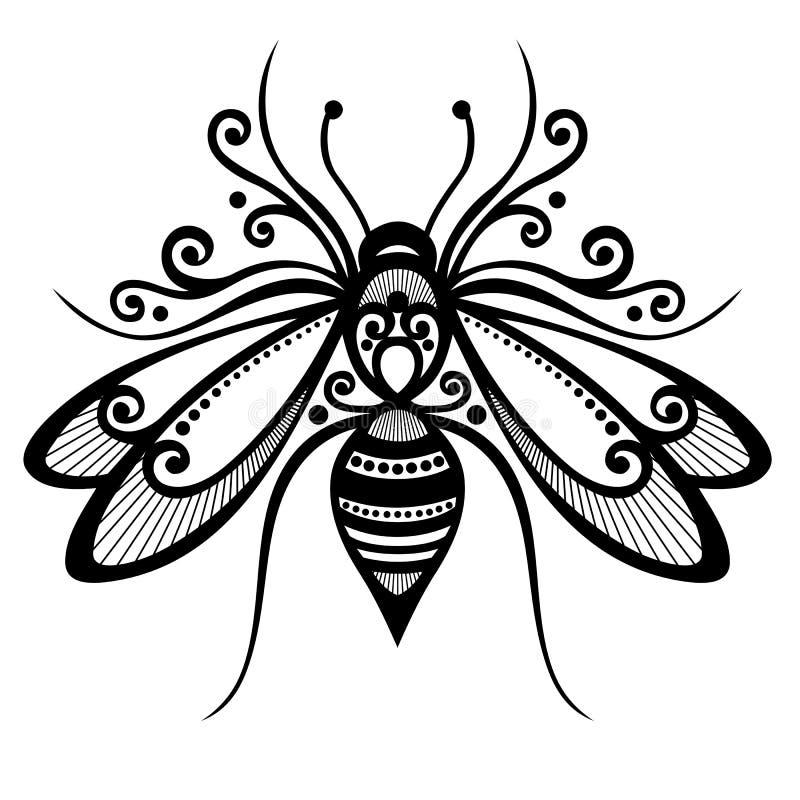 Abeille d'insecte illustration de vecteur