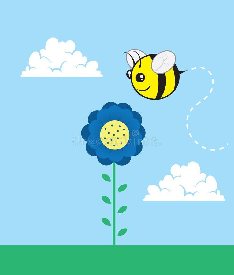 Abeille de fleur illustration stock