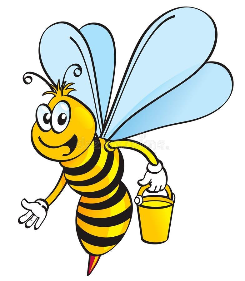 Abeille de miel illustration libre de droits