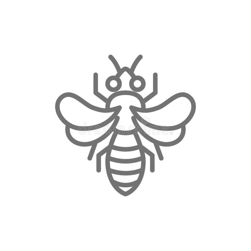 Abeille de miel, ligne icône de l'apiculture illustration stock