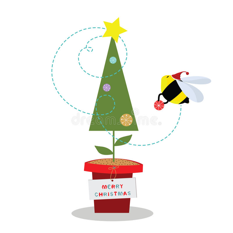 Abeille de Noël illustration stock