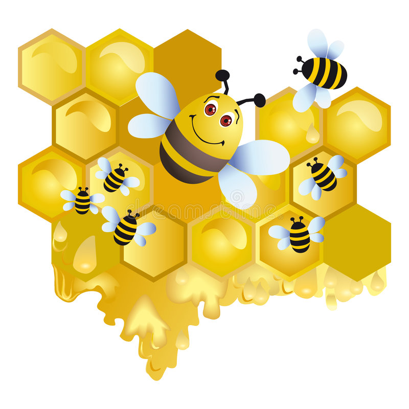 abeille joyeuse illustration libre de droits