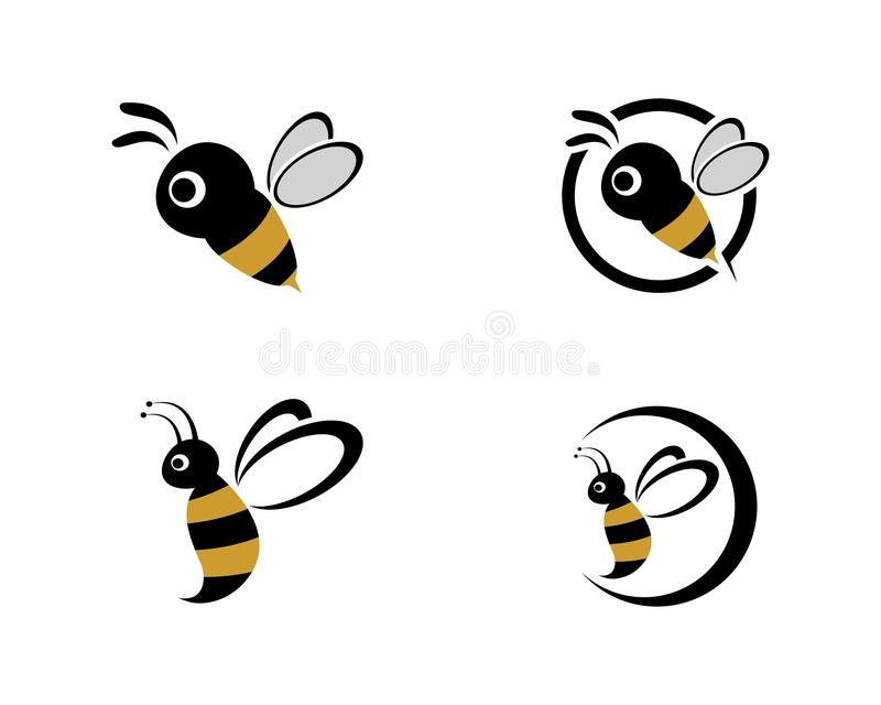 Abeille Logo Template illustration libre de droits