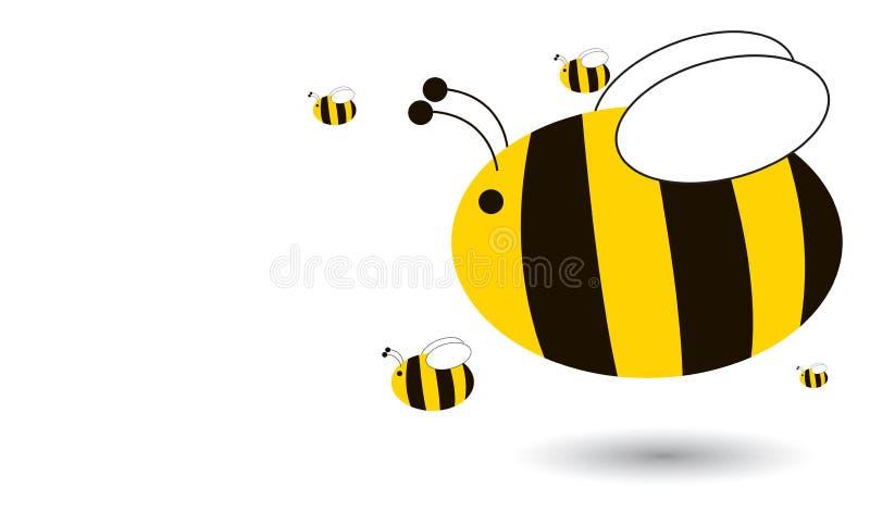 abeilles illustration stock
