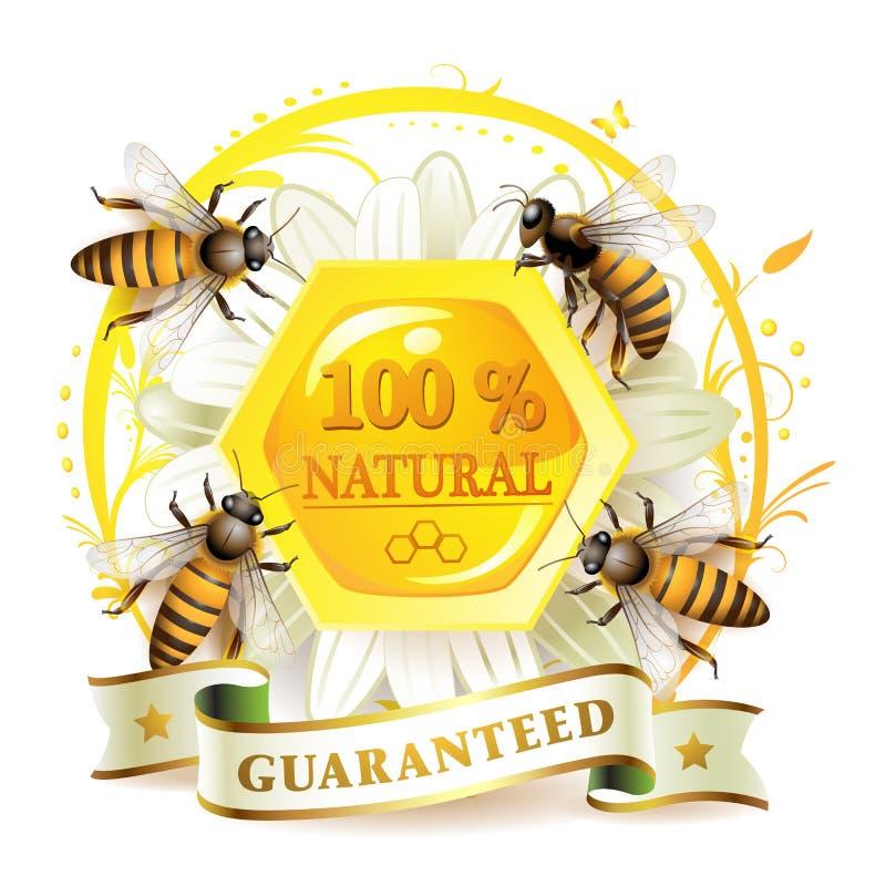 Abeilles et nids d'abeilles illustration de vecteur